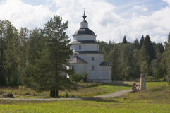 Iglesia de Elías el distrito de la región de Vologda, Rusia de Kirillov del cementerio de Tsypinskogo del profeta Imagenes de archivo