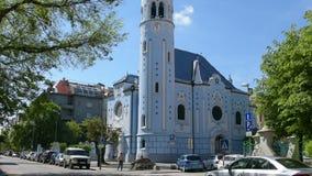 Iglesia de Elisabeth del santo en Bratislava almacen de metraje de vídeo