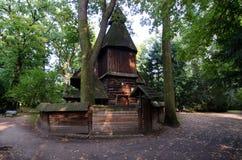 Iglesia de enero Nepomucen en el parque de Szczytnicki Imagenes de archivo