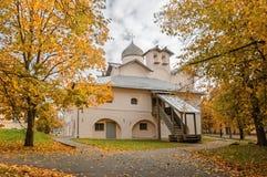 Iglesia de esposas-mironosits, Veliky Novgorod, Rusia Fotos de archivo libres de regalías