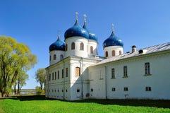 Iglesia de Exhaltation de la cruz, monasterio de Yuriev Imagenes de archivo
