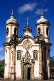 Iglesia de Francisco de Assis del sao de Igreja de Ouro Preto el Brasil Fotos de archivo libres de regalías