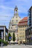 Iglesia de Frauenkirche en Dresden imágenes de archivo libres de regalías