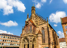 Iglesia de Frauenkirche en Nuremberg - Alemania imagen de archivo libre de regalías