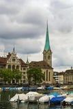 Iglesia de Fraumunster Imagen de archivo