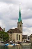 Iglesia de Fraumunster Fotografía de archivo