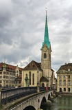 Iglesia de Fraumunster Imagen de archivo libre de regalías