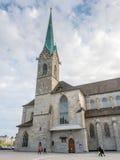 Iglesia de Fraumunster en Zurich Fotografía de archivo