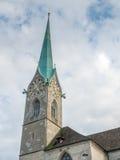Iglesia de Fraumunster en Zurich Foto de archivo