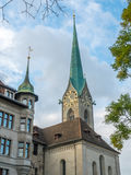 Iglesia de Fraumunster en Zurich Imágenes de archivo libres de regalías