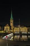 Iglesia de Fraumunster, Zurich Imágenes de archivo libres de regalías