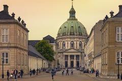Iglesia de Fredericks en Copenhague, Dinamarca Fotos de archivo