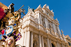 Iglesia de Giglio del dei de Santa María en Venecia, Italia Foto de archivo