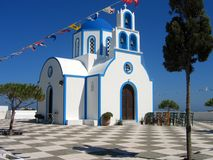 Iglesia de Grecia Santorini Imagen de archivo
