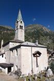 Iglesia de Gressoney imágenes de archivo libres de regalías