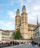 Iglesia de Grossmunster en Zurich Imagen de archivo