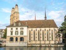 Iglesia de Grossmunster en Zurich Fotos de archivo