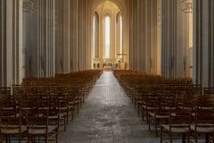 Iglesia de Grundtvig interior en Copenhague fotografía de archivo