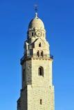 Iglesia de Hagia Maria Sion Abbey en el monte Sion Jerusalén, Israel Foto de archivo libre de regalías