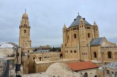 Iglesia de Hagia Maria Sion Abbey en el monte Sion Jerusalén, Israel Fotografía de archivo