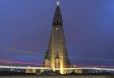 Iglesia de HallgrÃmskirkja Imágenes de archivo libres de regalías