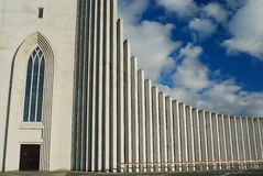 Iglesia de Hallgrims en Reykjavik, Islandia Foto de archivo libre de regalías