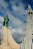 Iglesia de Hallgrims en Reykjavik, Islandia foto de archivo