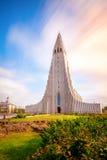 Iglesia de Hallgrimskirkja Imagen de archivo