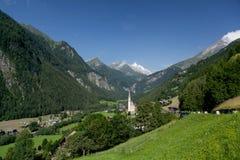 Iglesia de Heiligenblut; Austria Foto de archivo