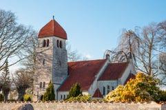 Iglesia de Hojerup en Dinamarca Foto de archivo libre de regalías