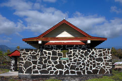 Iglesia de Hokuloa en la isla grande Fotografía de archivo