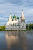 Iglesia de Iliay el profeta en Yaroslav Foto de archivo