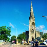 Iglesia de Invergordon, Irlanda del Norte Foto de archivo