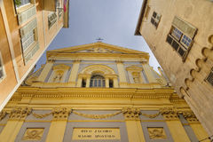 Iglesia de Jacques del santo, agradable, Francia Fotografía de archivo