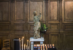 Iglesia de Jacques del santo, Compiegne, Oise, Francia Foto de archivo libre de regalías