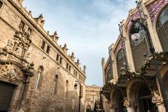 Iglesia de Joan del Mercat del santo y mercado central en Valencia Fotos de archivo