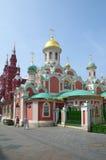 Iglesia de Kazán en cuadrado rojo en Moscú, Rusia Foto de archivo libre de regalías