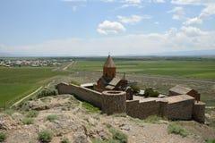 Iglesia de Khor Virap, Armenia Imagen de archivo libre de regalías