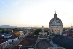 Iglesia de la默塞德教会的圆顶在格拉纳达,尼加拉瓜 免版税库存照片