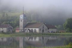 Iglesia de la abadía de Grandvaux en el Jura, Francia Imagen de archivo