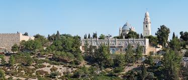 Iglesia de la abadía de Hagia Maria Sion en la ciudad vieja o Fotografía de archivo libre de regalías