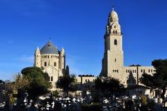 Iglesia de la abadía de Hagia Maria Sion en Mt Zion Imagen de archivo