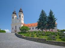 Iglesia de la abadía de Tihany del benedictino, Hungría Fotos de archivo libres de regalías