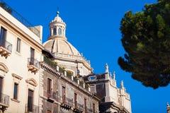 Iglesia de la abadía del ` Agata de Sant Foto de archivo libre de regalías