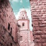 Iglesia de la abadía de Dormition Ciudad vieja jerusalén Israel Fotos de archivo
