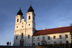 Iglesia de la abadía en Tihany Fotografía de archivo libre de regalías