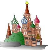 Iglesia de la albahaca del St stock de ilustración