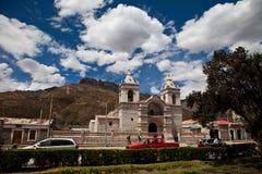Iglesia de la aldea de Chivay Fotos de archivo