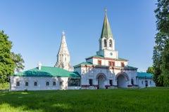 Iglesia de la ascensión en Kolomenskoye, Moscú, Rusia fotos de archivo libres de regalías