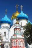 Iglesia de la asunción en la trinidad Sergius Lavra Imágenes de archivo libres de regalías